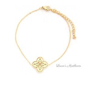 Geometric Gold Armband